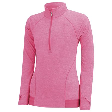 Girls Advanced Heathered Rangewear Jacket 1/2 Zip