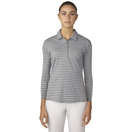 Tonal Stripe 3/4 Sleeve Polo